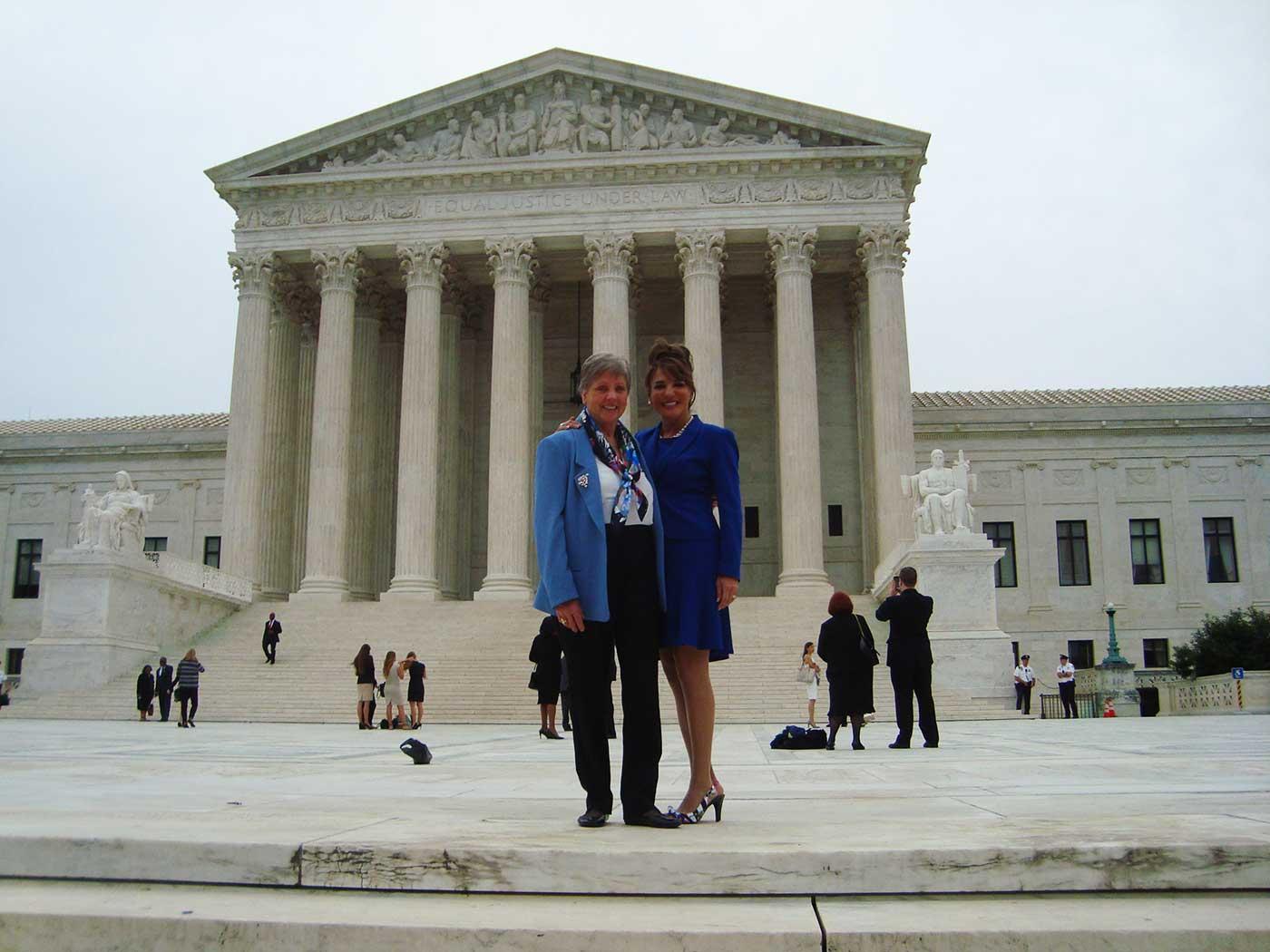 Yasmin & Helga at Supreme Court