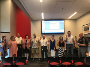 2018 IRWA Chapter 10 Board of Directors swearing-in ceremony.